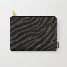 Ripped SpaceTime Stripes - Glitter Brown Carry-All Pouch