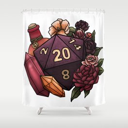 Sorcerer Class D20 - Tabletop Gaming Dice Shower Curtain