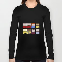 Enterprise 1701 D - Minimalist Star Trek TNG The Next Generation - startrek - Trektangles  Long Sleeve T-shirt