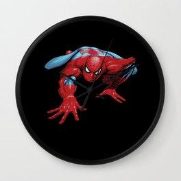 crawling spider man Wall Clock