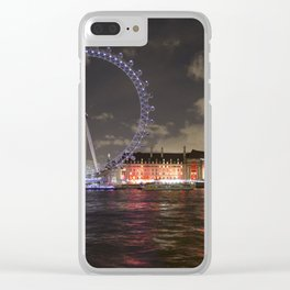 Eye of London and County Hall Clear iPhone Case