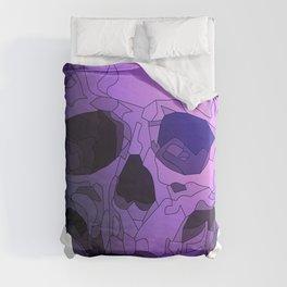 Skull - Violet Duvet Cover