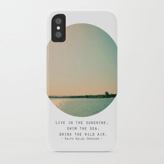 Swim The Sea iPhone Case