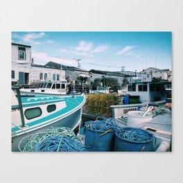Dock, Portland, ME Canvas Print