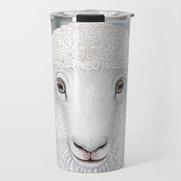 Corriedale sheep farm animal portrait Travel Mug