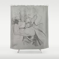 thor Shower Curtains featuring Thor by Gianni