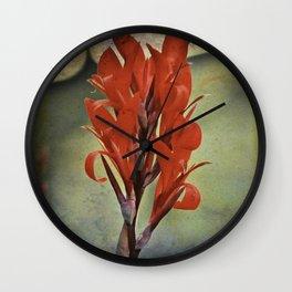 Churchyard Flower Wall Clock