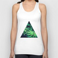weed Tank Tops featuring Smoke Weed by Lyre Aloise