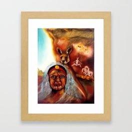 January Grounding Goddess Framed Art Print