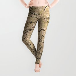 Vintage Damask 17416 Leggings