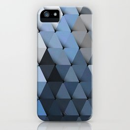Triangles Grays Blues iPhone Case
