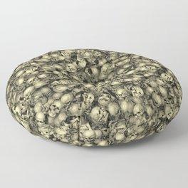 Heap of skulls Floor Pillow