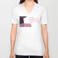 study V-neck T-shirts featuring Purple Study by Lyssia Merrifield