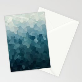 Ice Blue Mountains Moon Love Stationery Cards
