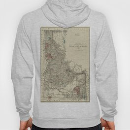 Map of Idaho 1888 Hoody