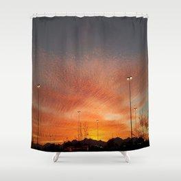 Sunburst sunset in Salt Lake City, Utah Shower Curtain