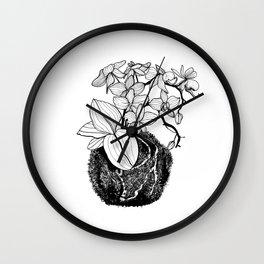 Orchid Kokedama Nr.1 Wall Clock