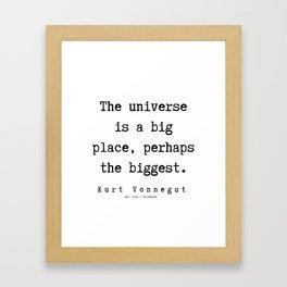 20  | Kurt Vonnegut Quotes | 191006 Framed Art Print