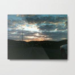 Early morning drive Metal Print