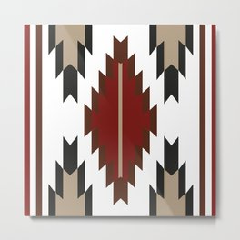 American Native Pattern No. 265 Metal Print