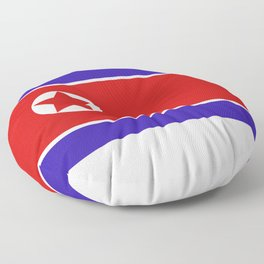 north korea flag Floor Pillow
