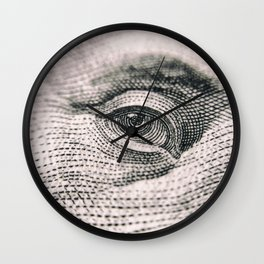 Dollar Eye Wall Clock