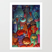 army Art Prints featuring The Army of Me by Marija Tiurina
