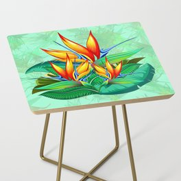 Bird of Paradise Flower Exotic Nature Side Table