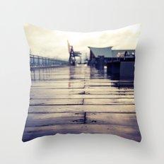 Olympia waterfront  Throw Pillow