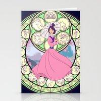 mulan Stationery Cards featuring Mulan by NicoleGrahamART