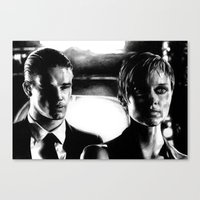 sin city Canvas Prints featuring Sin City by leonmorley