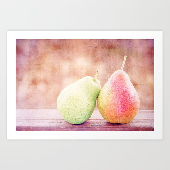 LOVING PEARS Art Print