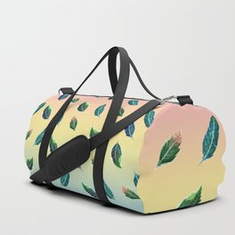 Watercolor Tribal Feathers Duffle Bag