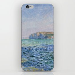 Shadows on the Sea at Pourville by Claude Monet iPhone Skin