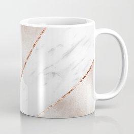 Spliced rose gold marble Coffee Mug