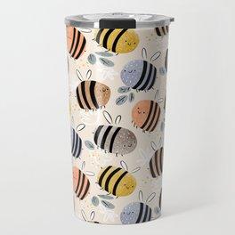 Sweet little baby bees watercolor illustration Travel Mug