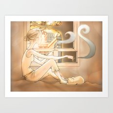 Sunrise Cityscape Art Print
