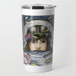 The Lotus-Wreathed Naiad Travel Mug