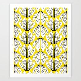 Bees Wings v.1  Art Print