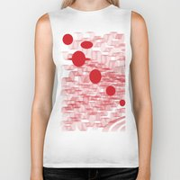 planets Biker Tanks featuring red planets by Loosso