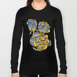 Midas Rose in Charming Blue Long Sleeve T-shirt