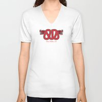 san diego V-neck T-shirts featuring San Diego Serpent by Namuginga