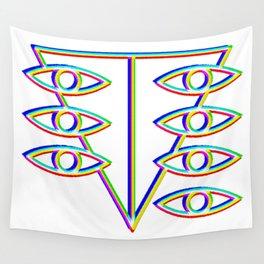SEELE glitch art Wall Tapestry