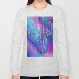 Psychedelic Forest (blue-pink) Long Sleeve T-shirt