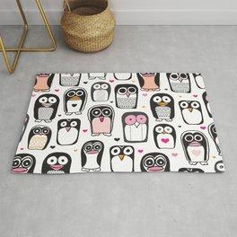 Adorable little penguin illustration pattern Rug