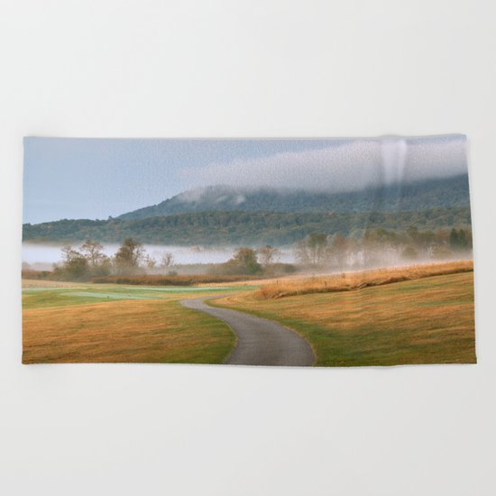 Misty Dawn Golf Course Beach Towel