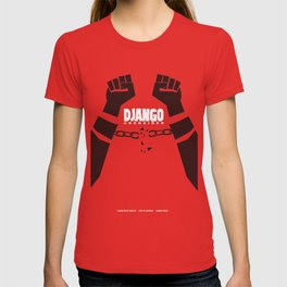 Django Unchained, Quentin Tarantino, minimalist movie poster, Leonardo DiCaprio, spaghetti western T-shirt