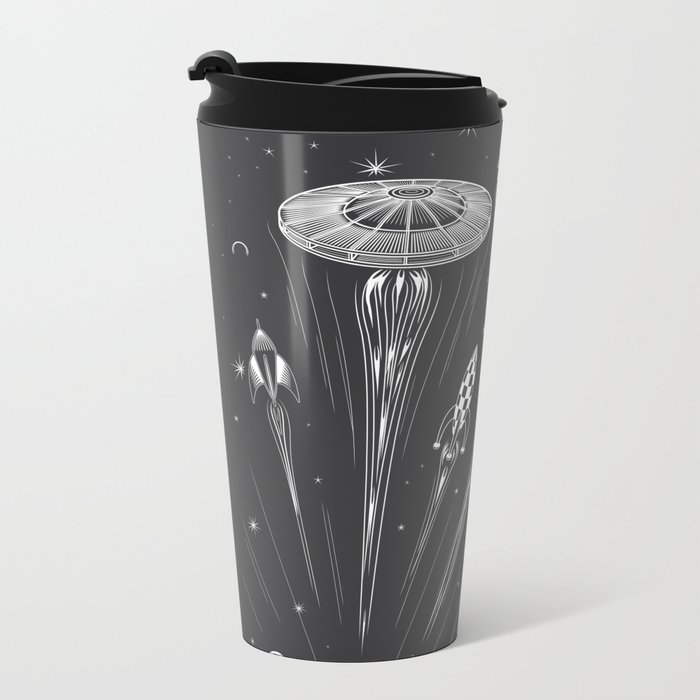 Space Race Metal Travel Mug