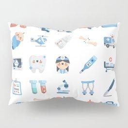 CUTE MEDICINE / SCIENCE / DOCTOR PATTERN Pillow Sham