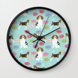 Beagle donuts cute gifts for pure breed dog lover beagles owners Wall Clock